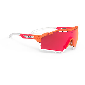 Rudy Project Cutline Occhiali, mandarin fade coral/multilaser red